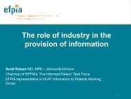 The role of industry in the provision of