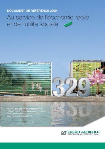 Document de référence 2009 - Crédit Agricole CIB