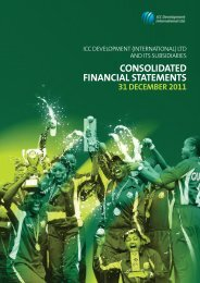 consolidated financial statements - International Cricket Council
