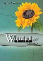 Dessert Menu - Whitehall Diner