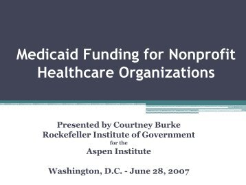 medicaid funding relationship with nonprofit organizations Welcome to tdhca's nonprofit assistance page here is a list of hyperlinks to external web sites designed to help nonprofits build their capacity you'll find things as simple as how to form a nonprofit all the way up to finding funding.