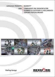 catalogo prodotti marbett componenti per trasportatori, elementi di ...