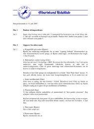 Referat bestyrelsesmødet 31-07-2007 - Albertslund Rideklub