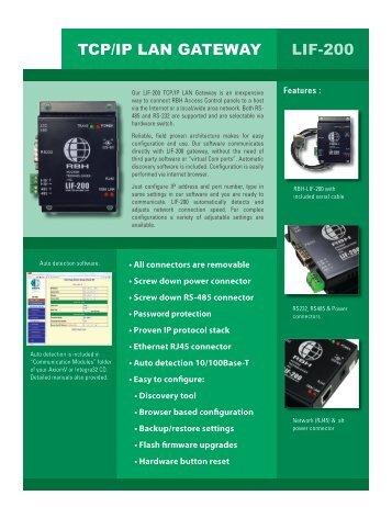 LIF-200 TCP/IP LAN GATEWAY - TristateTelecom