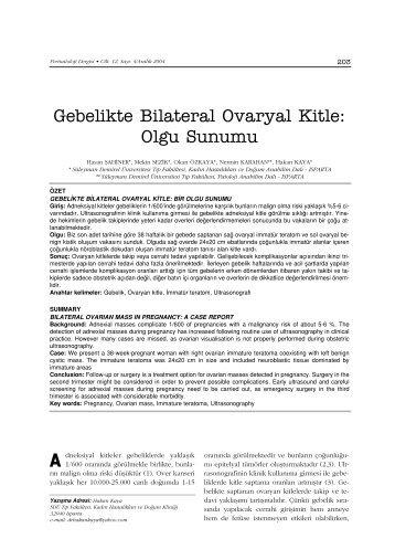PDF Olarak İndir - Perinatoloji Dergisi