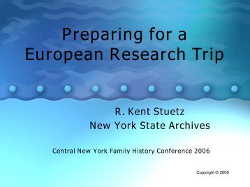 Preparing for a European Research Trip - Austrian Family History