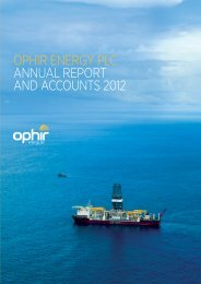 2012 Annual Report - Ophir Energy