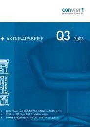 Finanzbericht 1-9 2006 - conwert Immobilien Invest SE