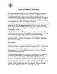 ANS Fukushima Report - Fukushima Daiichi - American Nuclear ...