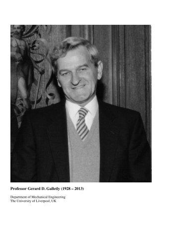 Professor Gerard D. Galletly - Shellbuckling.com