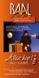 Kinder- & Jugendtheaterfestival uber Grenzen am Oberrhein