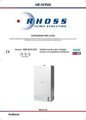 H51214-v07 Manuale Istr. per l'uso Aurora MISI 20S-25S ... - Rhoss