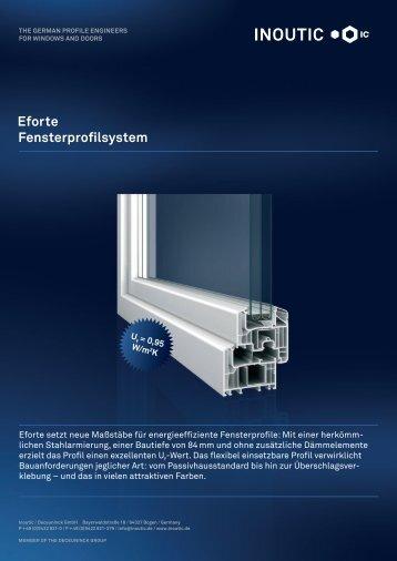 Eforte Fensterprofilsystem - Inoutic