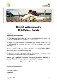 Hochzeitsmappe (PDF) - Hotel Schloss Seefels