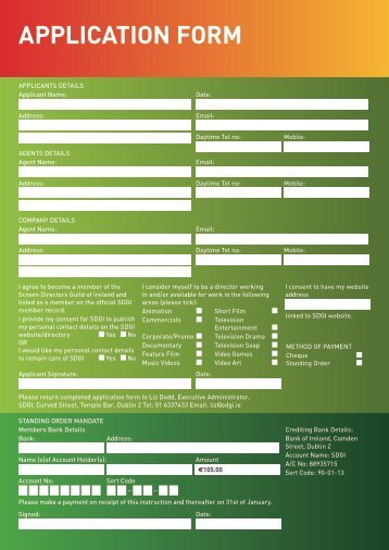 Membership Application Form - SDGI