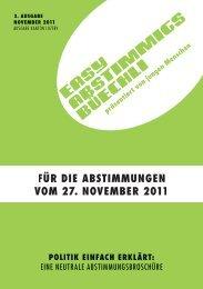 Easy-Abstimmigsbüechli November 2011 - Easyvote