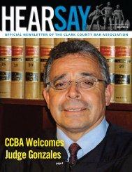CCBA Welcomes Judge Gonzales