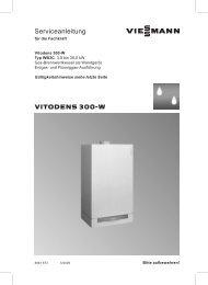 Vitodens 300-W Serviceanleitung