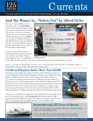 """And The Winner Is... """"Safety First"""" - Newport News Shipbuilding"""