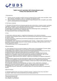 Ogólne Warunki Sprzedaży - Polska Unia Dystrybutorów Stali