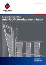 Asia-Pacific Headquarters Study - Roland Berger