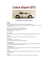 Lotus Esprit GT3 - lotus esprit australia