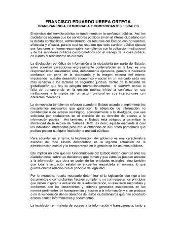 Transparencia, democracia y comprobantes fiscales - Indetec
