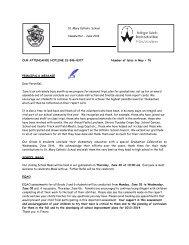 June Newsletter - Wellington Catholic