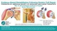 Evidence-Based Rehabilitation Following Rotator Cuff Repair