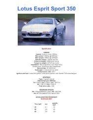 Lotus Esprit Sport 350 - lotus esprit australia