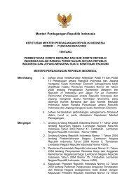 KEPUTUSAN MENTERI PERDAGANGAN RI - Direktorat Jenderal KPI
