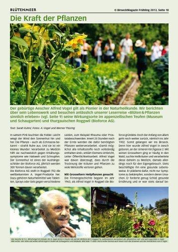 Die Kraft der Pflanzen - Birseck Magazin