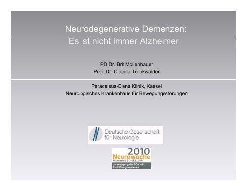 Neurodegenerative Demenzen: Es ist nicht immer Alzheimer
