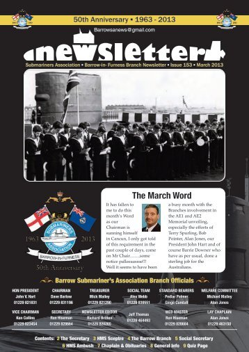 March 13 - Barrow Submariners Association