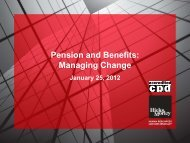 Pension and Benefits: Managing Change - Hicks Morley