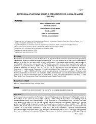 efeitos da aflatoxina sobre o crescimento do jundiá ... - lamic - UFSM