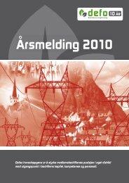Årsmelding 2010 - Defo