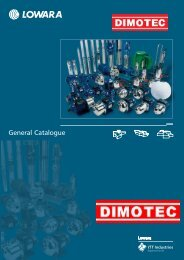 General Catalogue - Dimotec