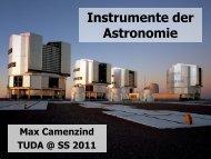 400 Jahre Teleskop-Entwicklung (von Galilei zu E