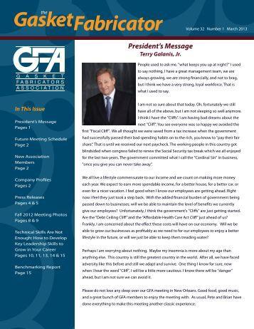 March 2013 - Gasket Fabricators Association