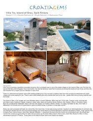 Villa Tia, Island of Brac, Split Riviera - CroatiaGems