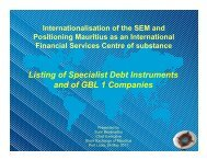 Listing of Specialist Debt Instruments and of GBL 1 Companies - ASEA