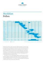 Merkblatt Pollen - Lunge Zürich