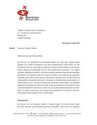 Advies Sportraad Amsterdam - Toekomst Olympisch Stadion Wethouder Sport 3 april 2014