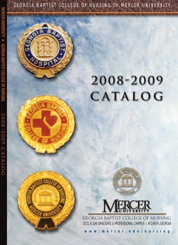 College of Nursing Catalog 2008-2009 - Mercer University