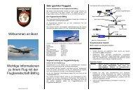Info-Broschüre der Flugbereitschaft des ... - Luftwaffe
