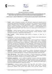 """REGULAMIN rekrutacji i uczestnictwa w projekcie """"REINTEGRACJA ..."""