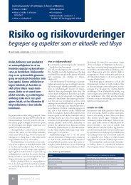 Risiko og risikovurdringer - Utposten
