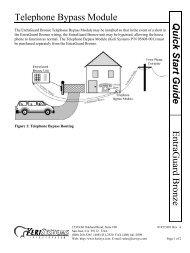 Telephone Bypass Module EntraGuard Bronze Quick ... - Keri Systems