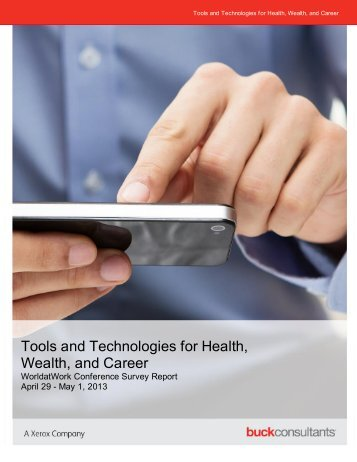 Tools and Technologies for Health, Wealth, and Career